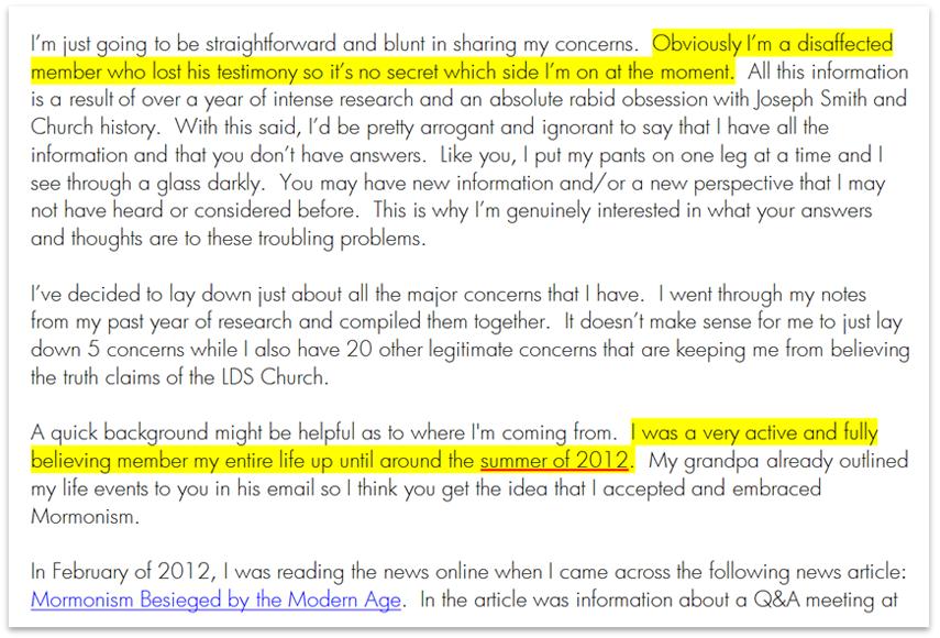 Debunking FairMormon Letter to a CES Director CES Letter